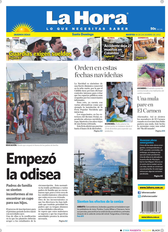 Edición impresa Santo Domingo del 18 de diciembre de 2012 by Diario La Hora  Ecuador - issuu bf50214f438