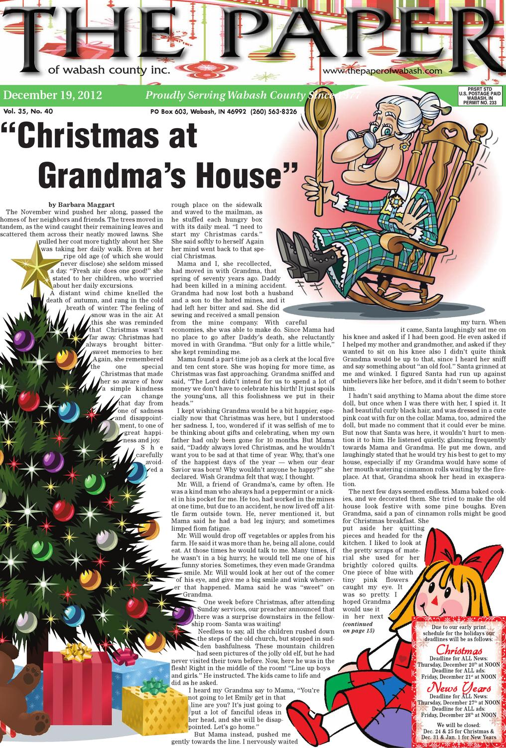 Dec. 19, 2012 by The Paper of Wabash County - issuu