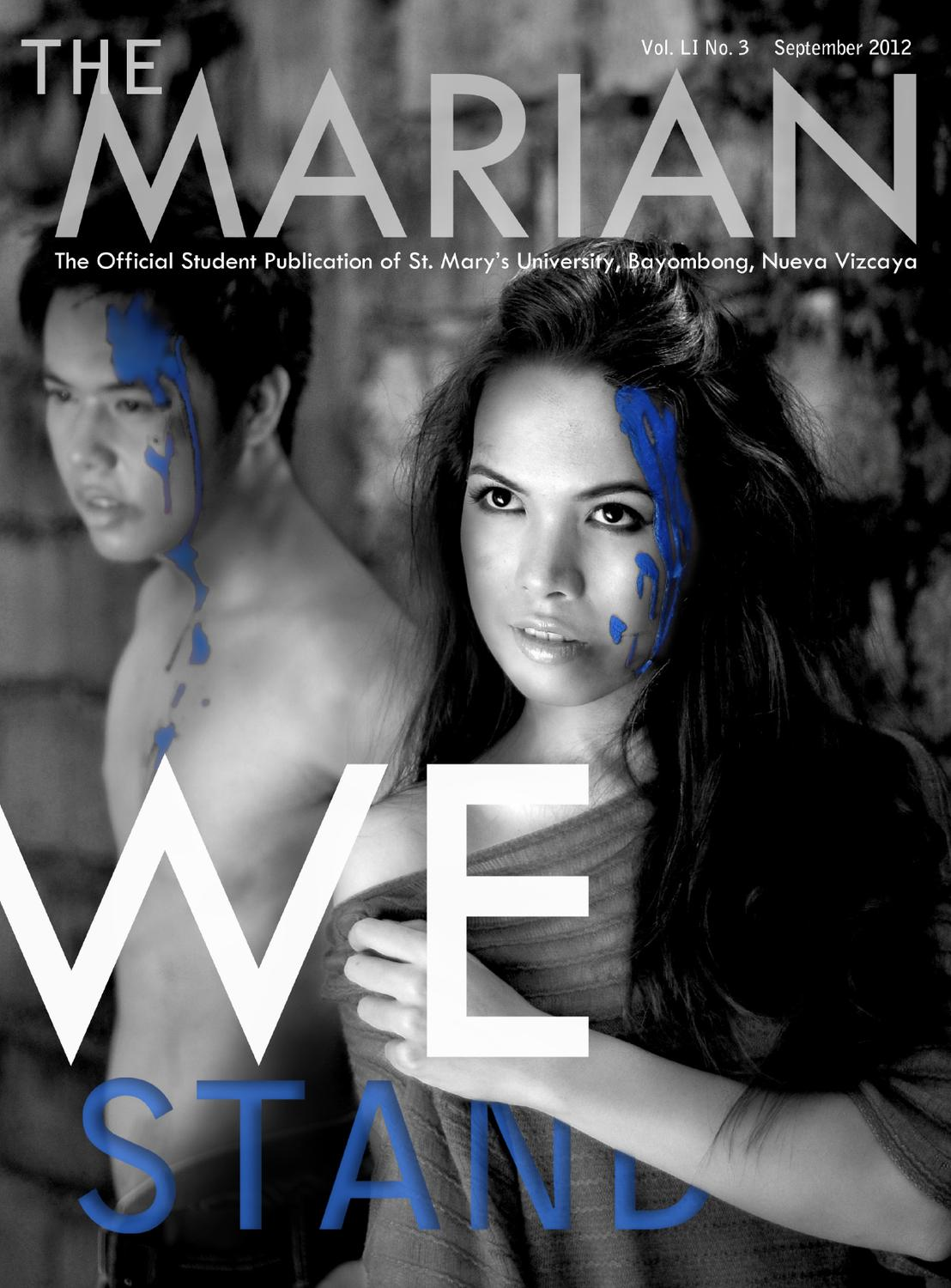 We STAND: The MARIAN Magazine 2012 by The MARIAN SMU - issuu