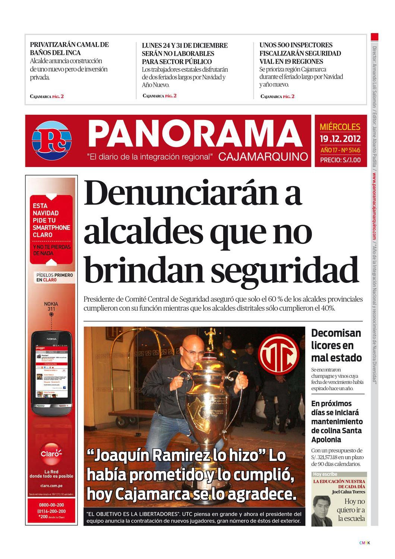 diario-19-12-2012 by Panorama Cajamarquino - issuu