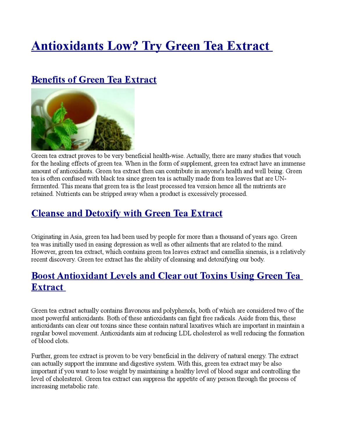 Green tea extract - benefits for the whole body 24