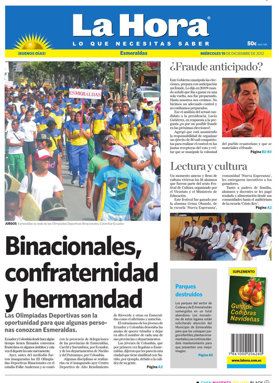 Edici N Impresa Esmeraldas Del 19 De Diciembre De 2012 By Diario  # Arregla Muebles Ehs Opiniones