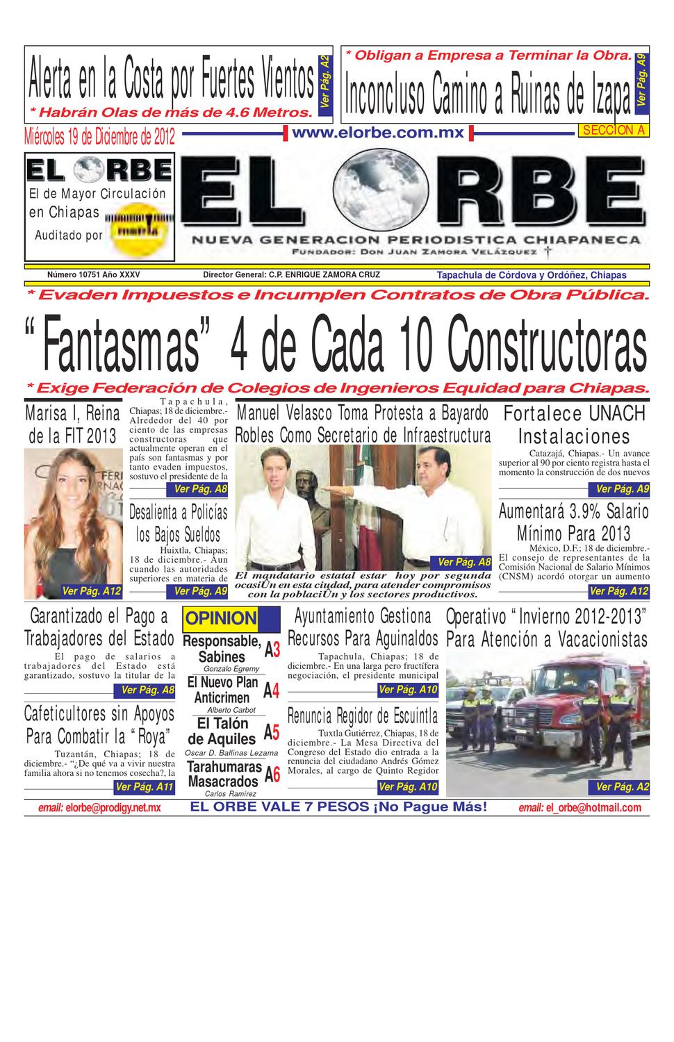 DICIEMBRE 19 DE 2012 by elorbe orbe - issuu f1f509f79a5ee