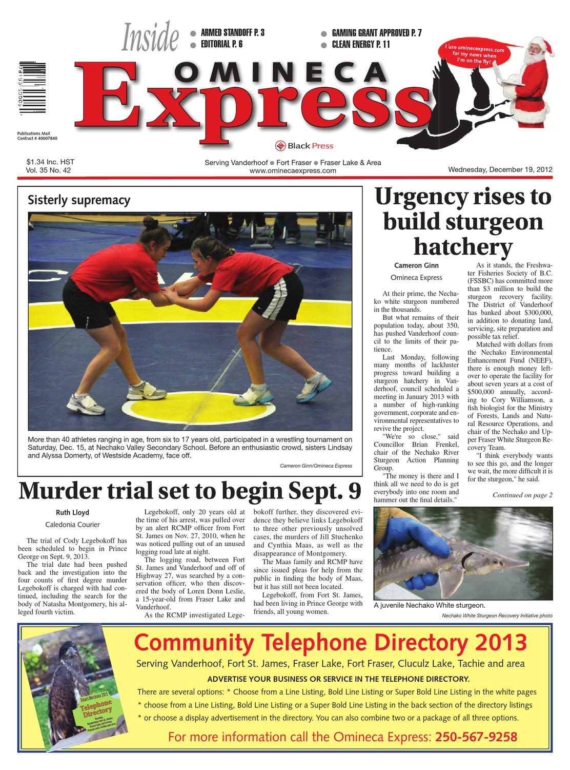 Vanderhoof Omineca Express, December 19, 2012 by Black Press Media