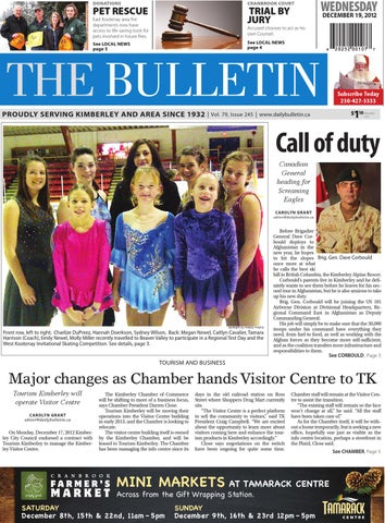 Kimberley Daily Bulletin December 19 2012 By Black Press Issuu