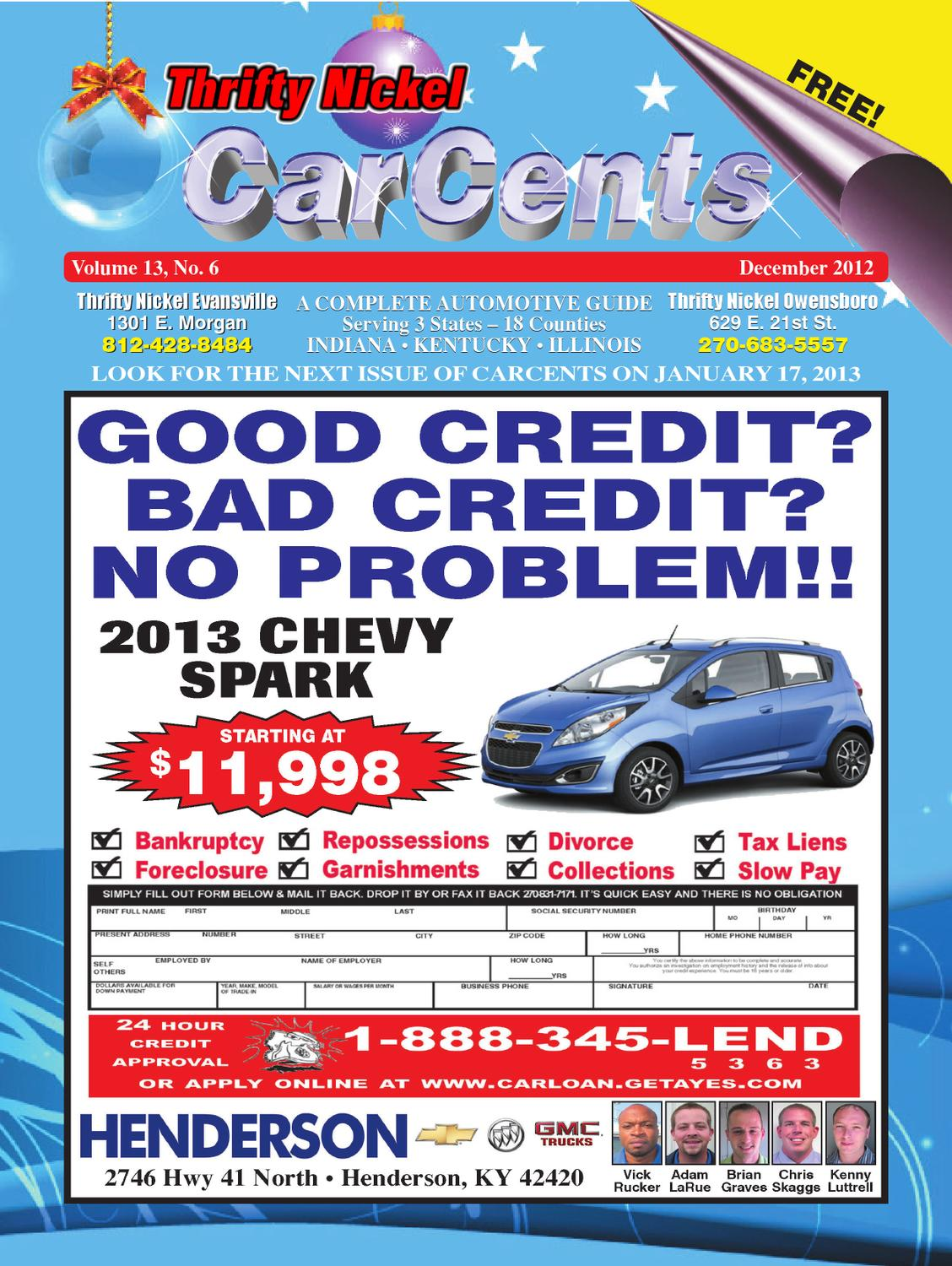carcents dec 2012 by thrifty nickel issuu issuu