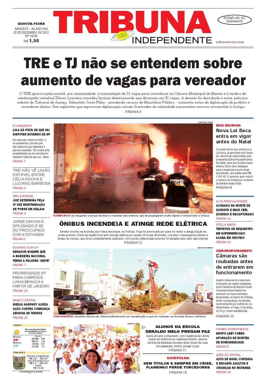 f009a525360 Edição número 1626 - 20 de dezembro de 2012 by Tribuna Hoje - issuu