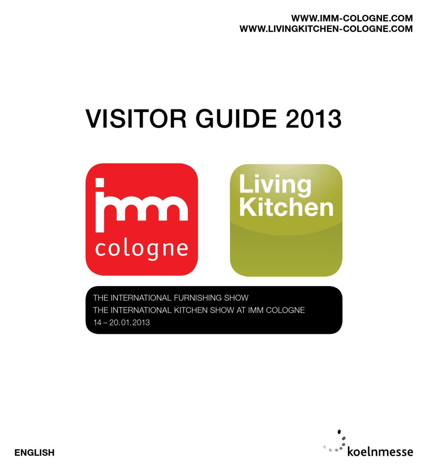 Visitor Guide Imm Cologne Livingkitchen 2013 Englisch By  # Muebles Vikings Cl