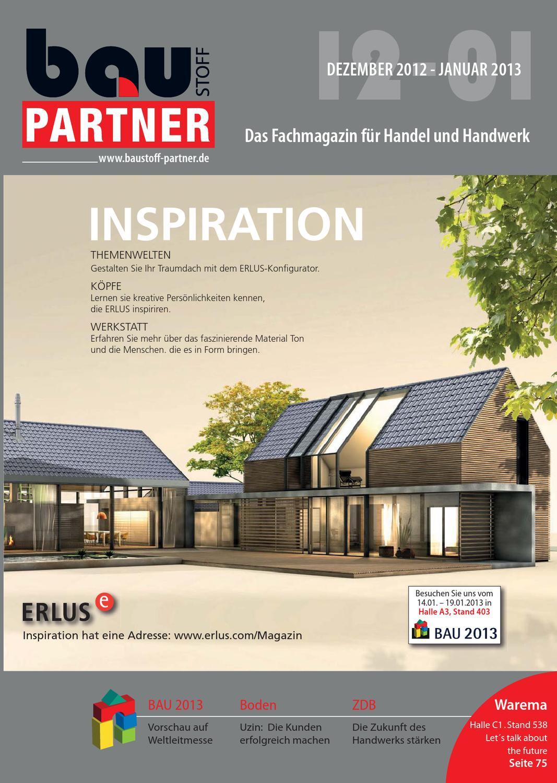 Baustoff Partner 12 12 01 13 By Sbm Verlag Gmbh Issuu