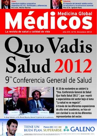 Revista Médicos Diciembre 2012 Edicion 72 By Jorge Sabatini Issuu