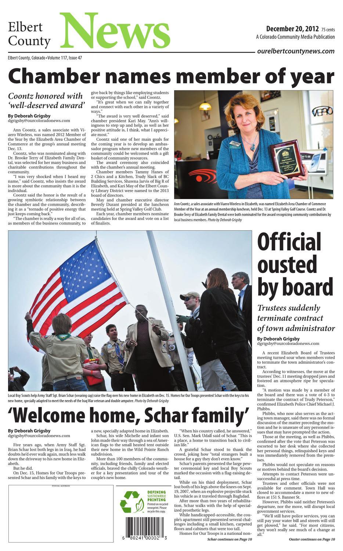 Elbert County News 122012 by Colorado Community Media - issuu