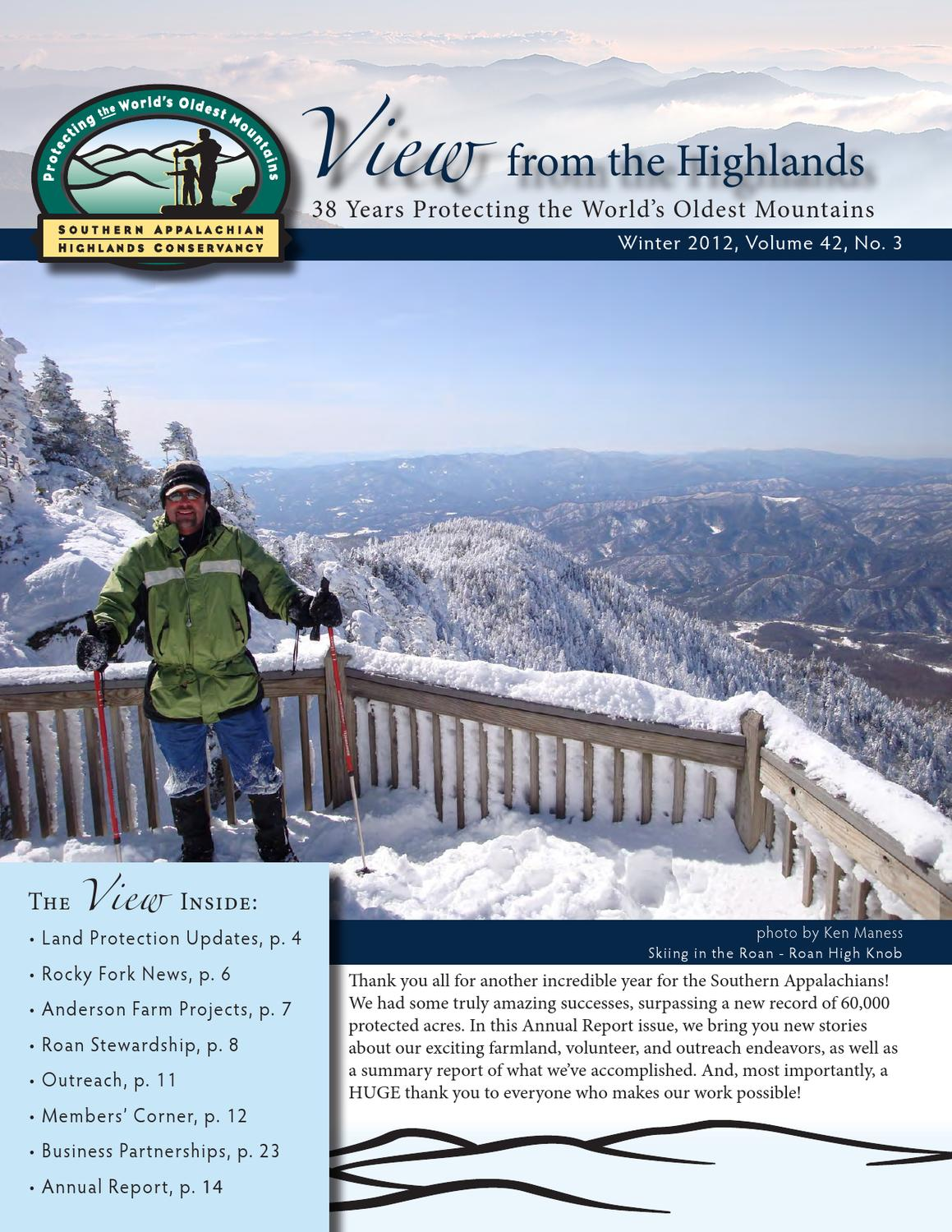 view from the highlands winter 2012 by southern appalachian