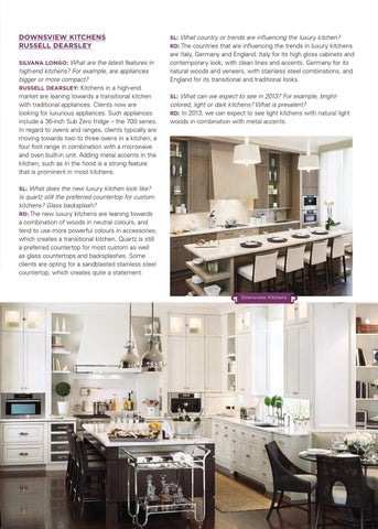 Downsview Kitchens Rus Dearsley Silvana Longo What Are The Latest Features In
