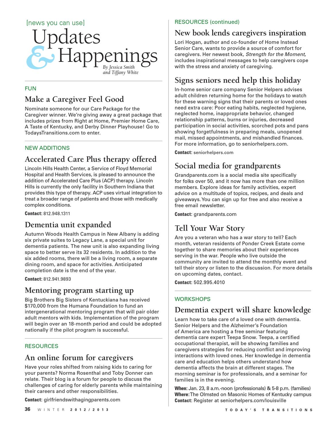 Today's Transitions Winter 2013 by Today's Media - issuu