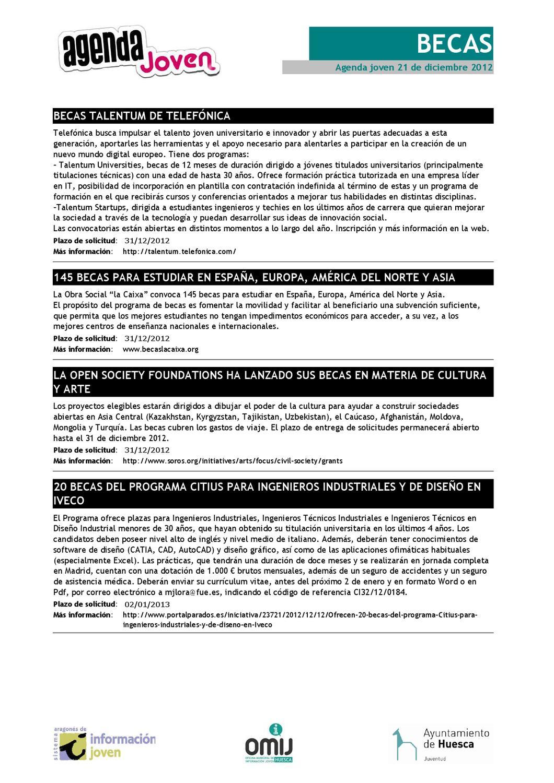 Agenda joven 21 de diciembre 2012 by OMIJ Huesca - issuu