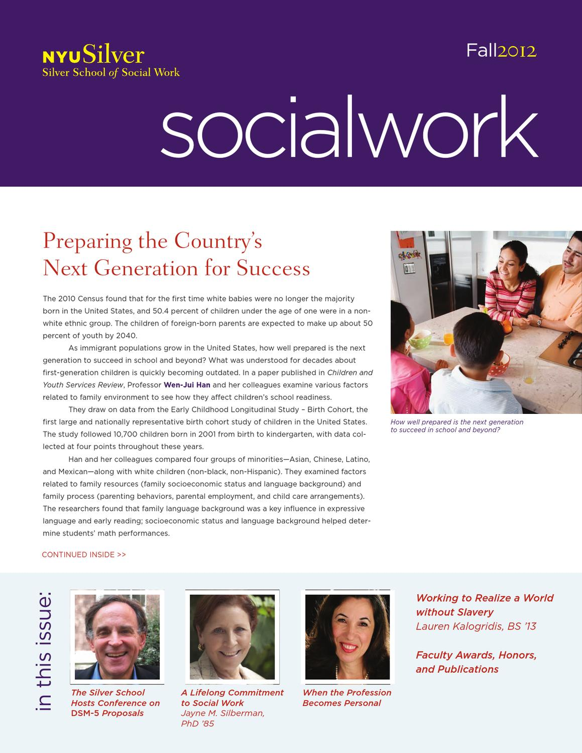 nyu silver fall newsletter by nyu silver school of social  nyu silver fall 2012 newsletter by nyu silver school of social work issuu