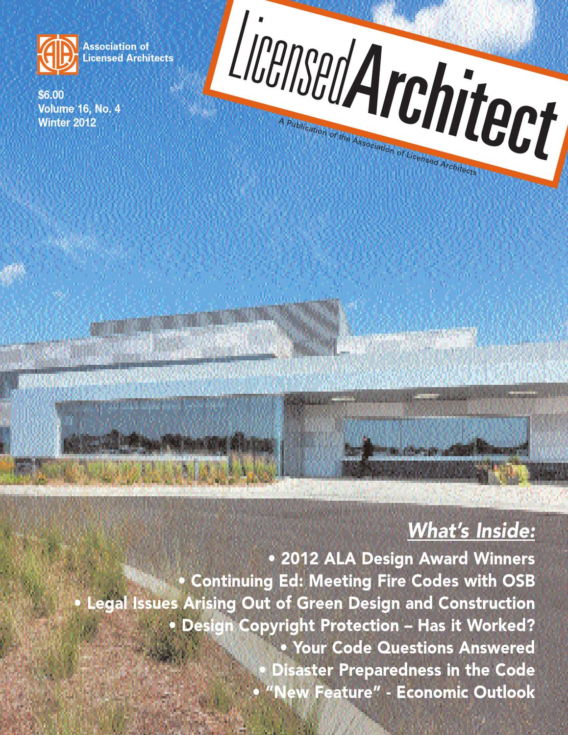Licensed Architect Winter 2012 by Lisa Brooks - issuu