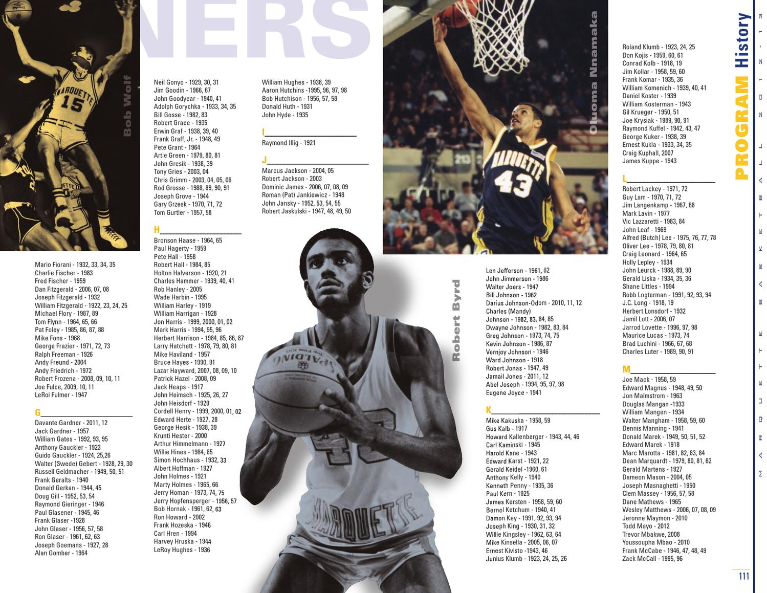 2012 13 Marquette MBB Media Guide by Marquette Athletics issuu