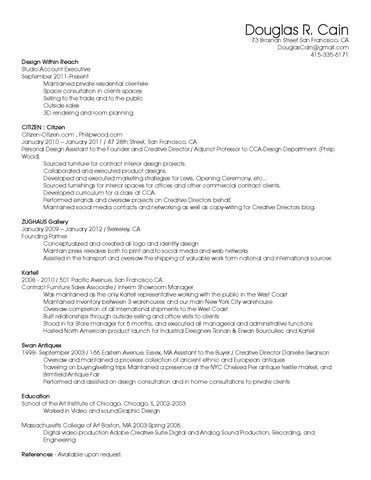Resume By Douglas Cain Issuu