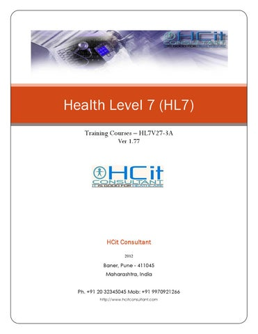HL7 three Day face-to-face workshop by Lavanian Dorairaj - issuu