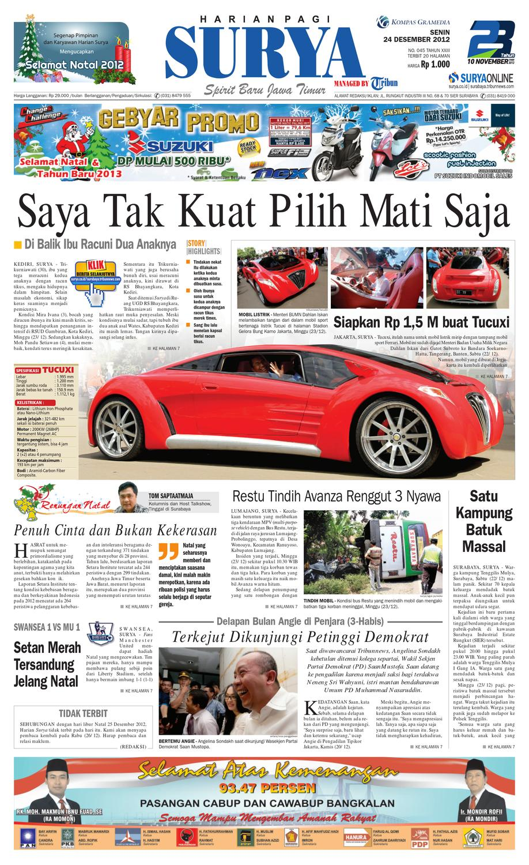 E Paper Surya Edisi 24 Desember 2012 By Harian Issuu Kebab Pisang Coklat Champlo Sf