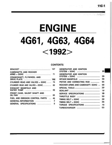 4g61 4g63 4g64 engine 1990 1994 manual by ias mat issuu rh issuu com mitsubishi 4g63 engine repair manual pdf mitsubishi 4g63 engine workshop manual