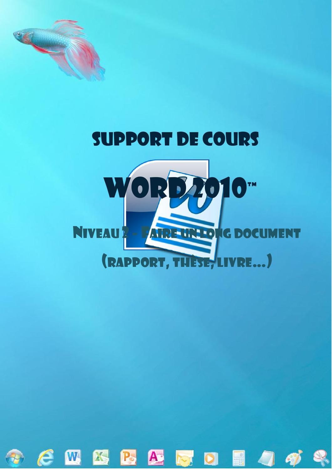 word 2010  long documents  mod u00e8les  objets by joel green