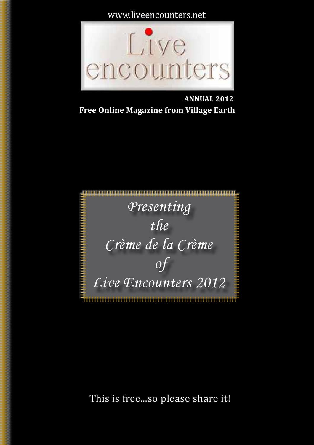 Live Encounters Annual 2012 by Live Encounters - issuu