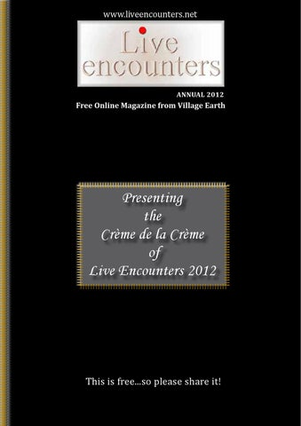 Live Encounters Annual 2012 By Live Encounters Issuu