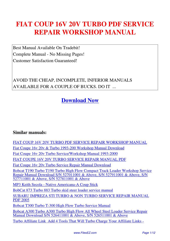 fiat punto mk1 haynes manual pdf