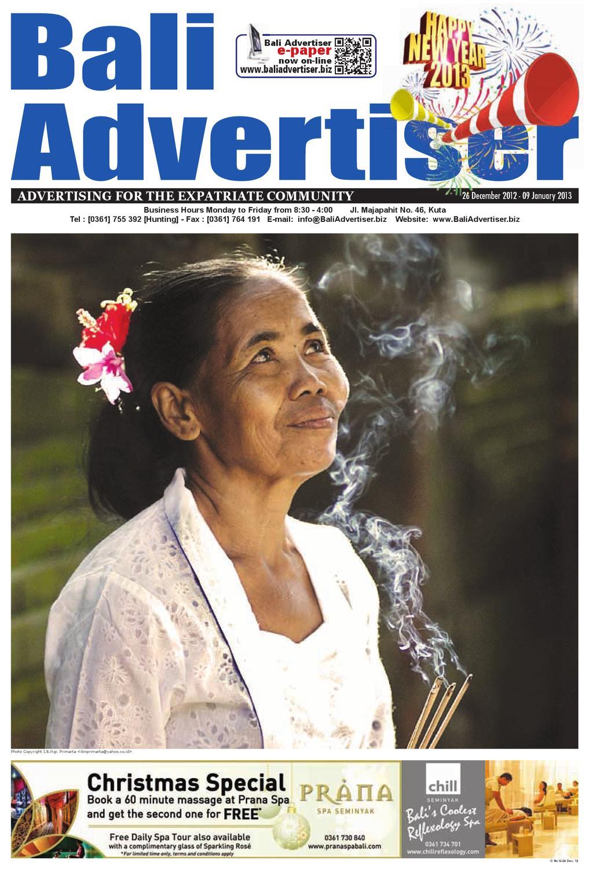 Ba 26 December 2012 By Bali Advertiser Issuu Tendencies Tshirt Soup Beach Putih Xxl