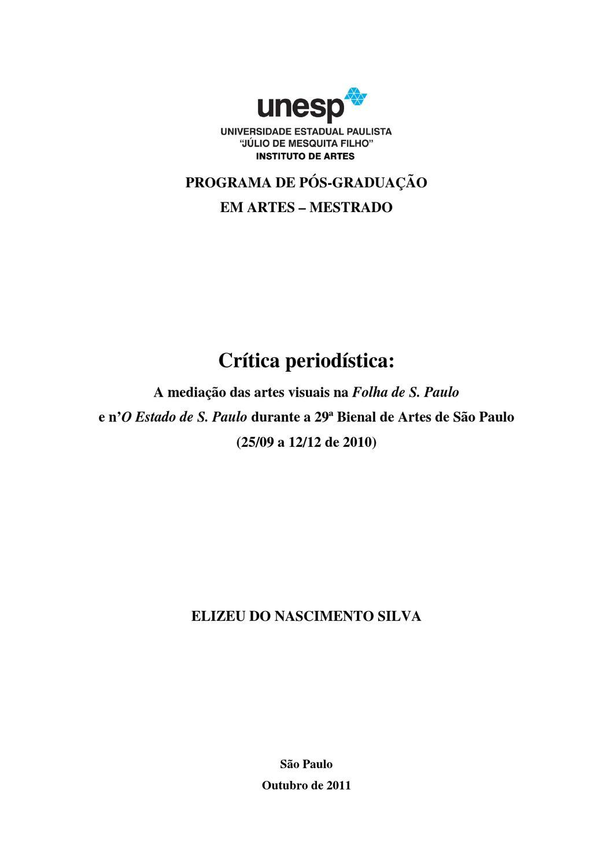 Crítica de Arte by Elizeu Nascimento Silva - issuu ca66934229