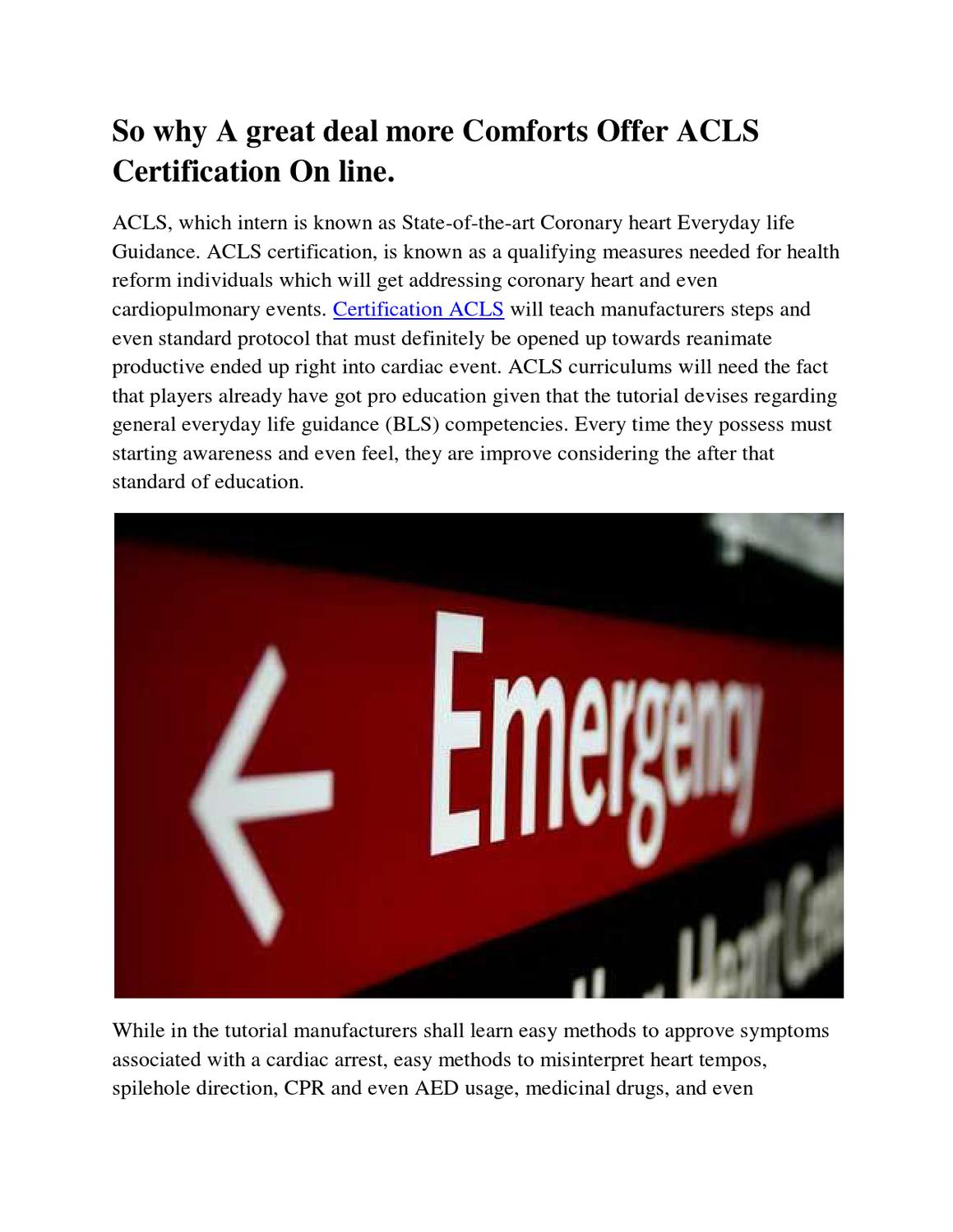 Acls Certification By Hazel Ives Issuu