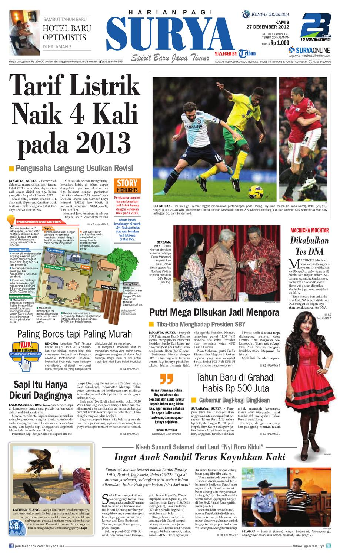 E-paper Surya Edisi 27 Desember 2012 by Harian SURYA - issuu a903f78fad