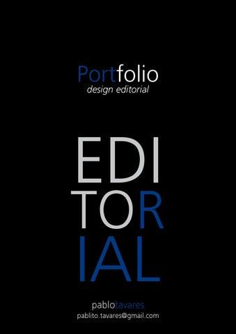 Portfolio Pablo Tavares - Design Editorial by Pablo Tavares - issuu d3dcf44dbcb2a