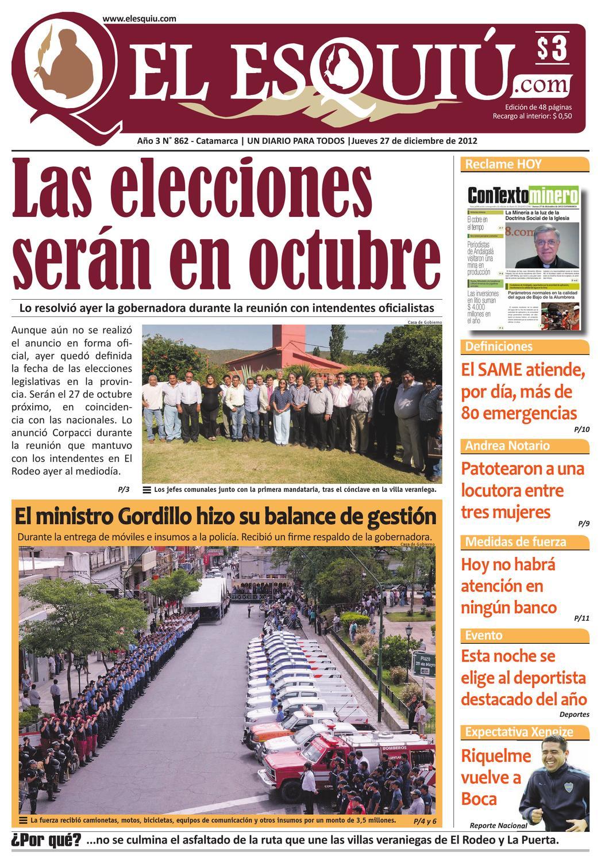 El Esquiu Com Jueves 27 De Dicembre De 2012 By Editorial El  # Muebles Yoma Antofagasta