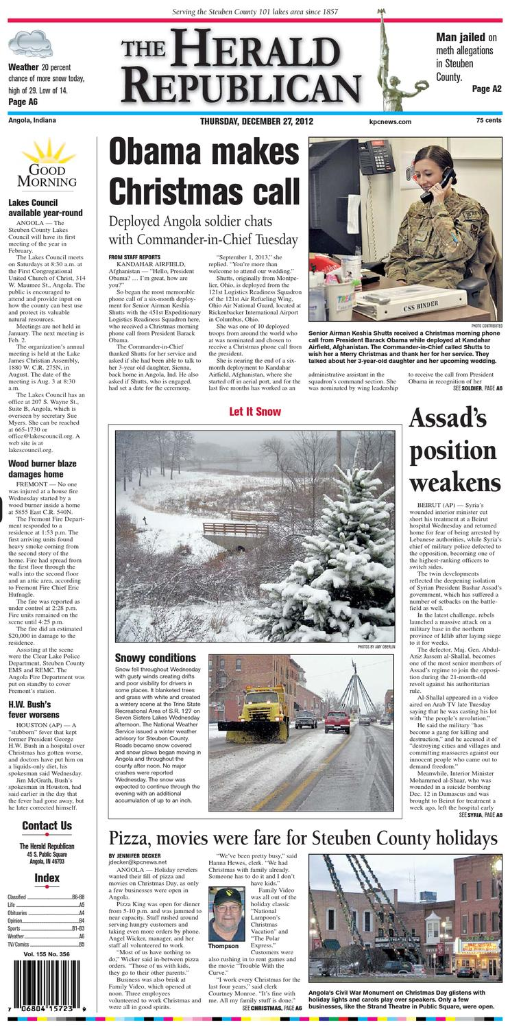 The Herald Republican – December 27, 2012 by KPC Media Group - issuu