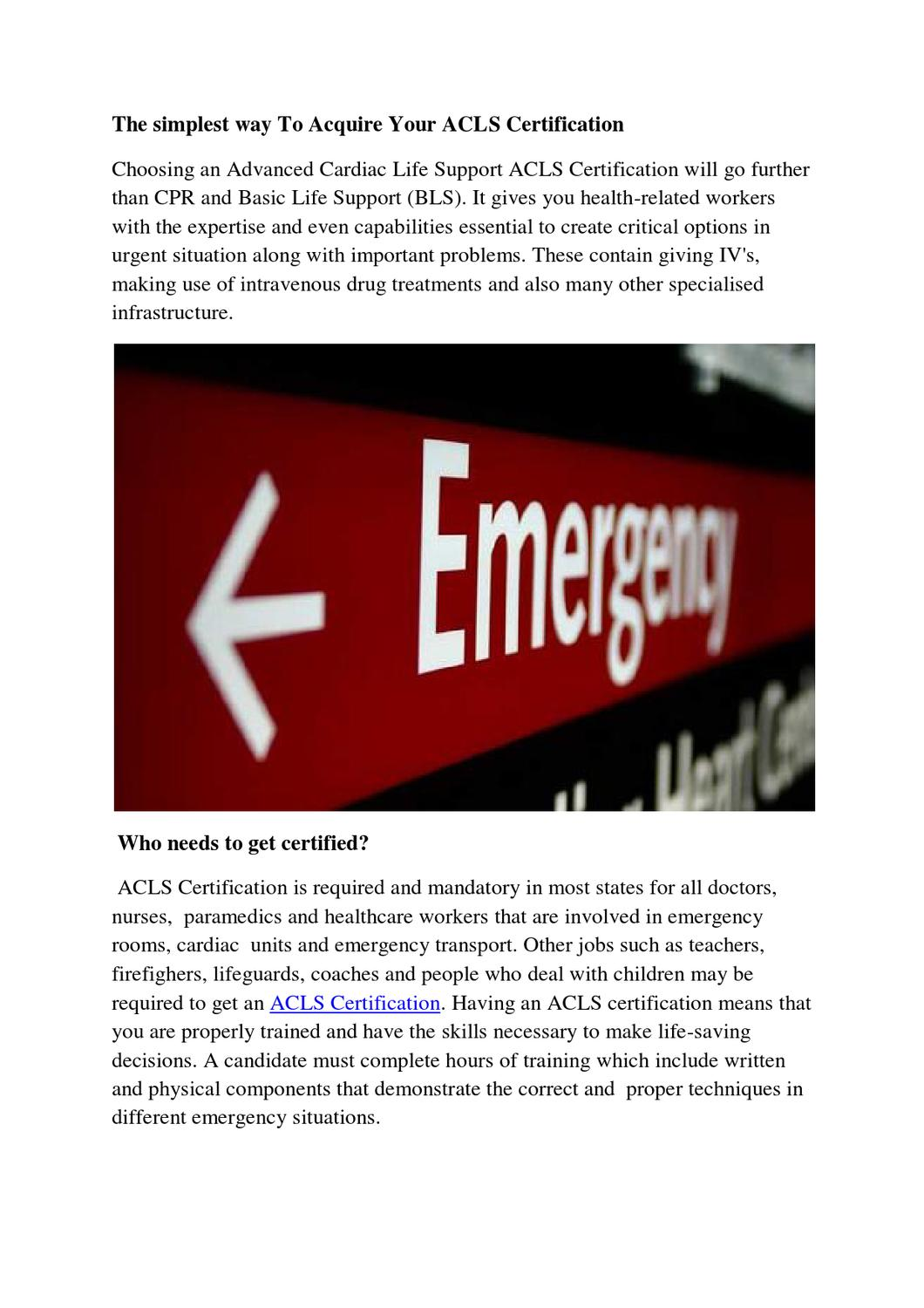 Certification Acls By Marcus Gary Issuu