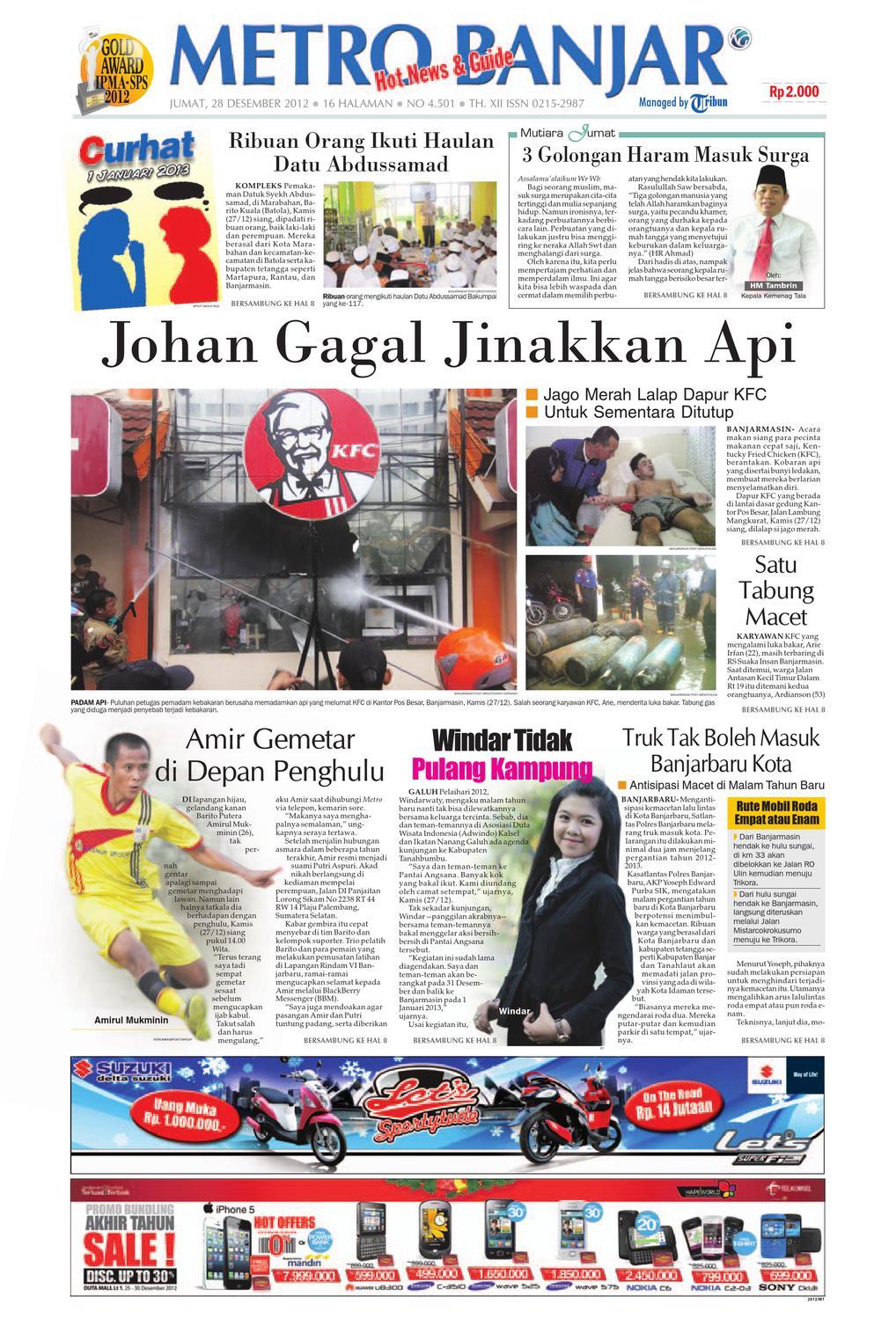 Metro Banjar Edisi Jumat, 20 Desember 20 by Harian Metro Banjar ...