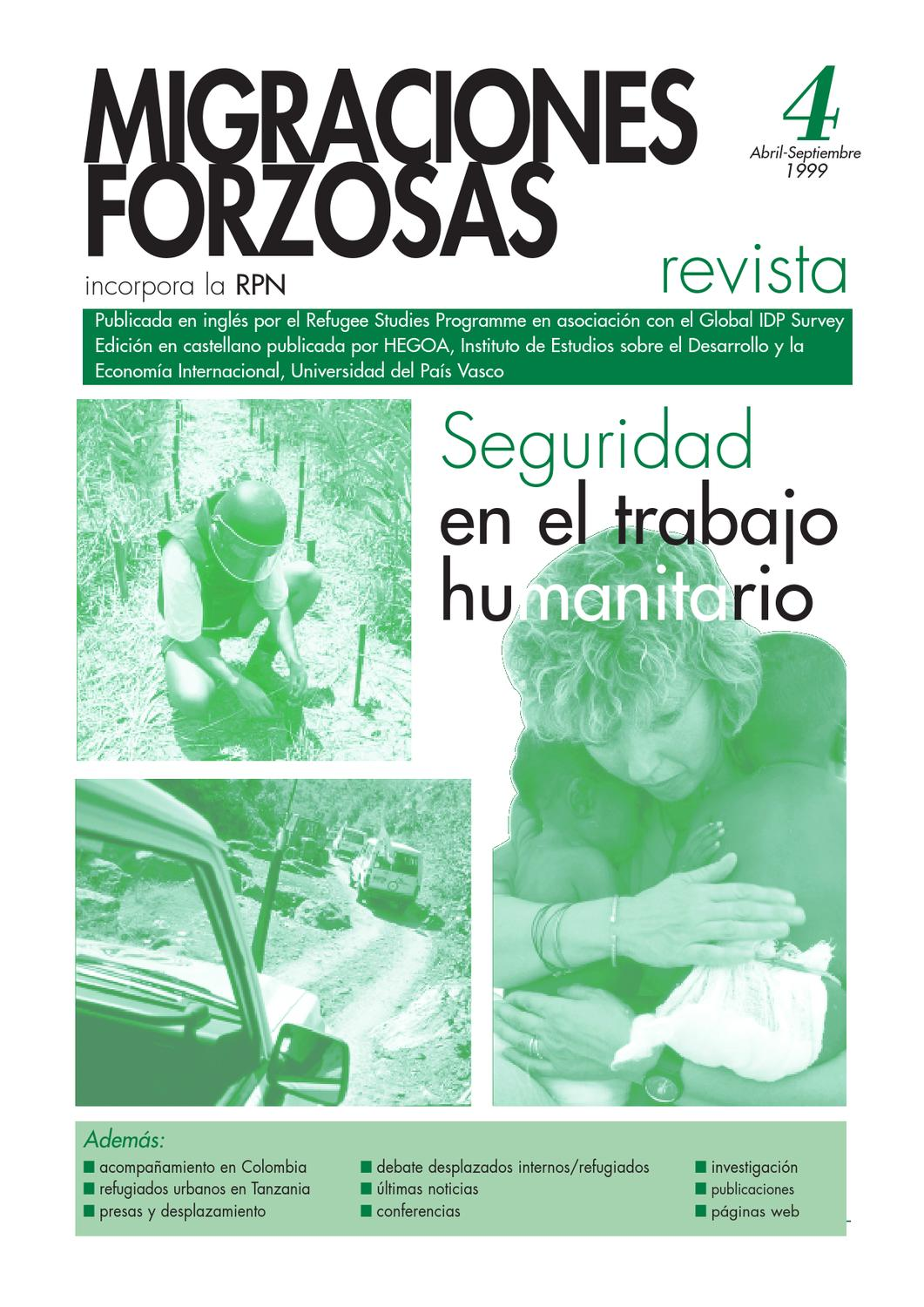 Revista Migraciones Forzadas 4 by Forced Migration Review - issuu