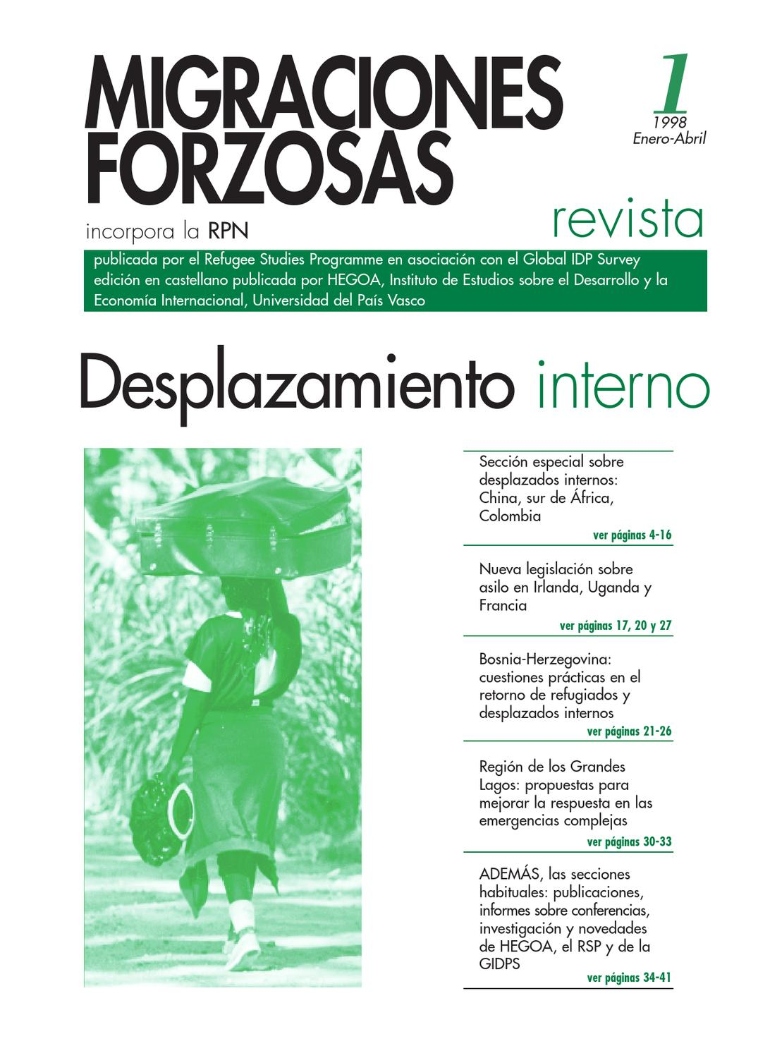 Revista Migraciones Forzadas 1 by Forced Migration Review - issuu