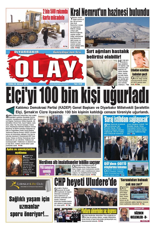 28 12 2012 Gazete Sayfalari By Diyarbakir Olaygazetesi Issuu