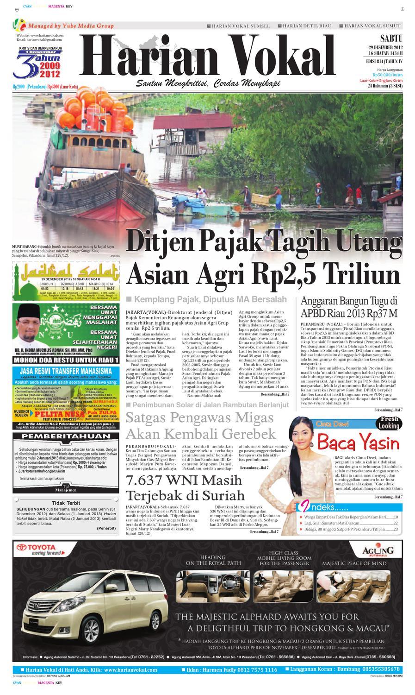 Harian Vokal Edisi 29 Desember 2012 By Riau Publisher Issuu Bra Set Wanita Sexy Transparan Metalik 8302