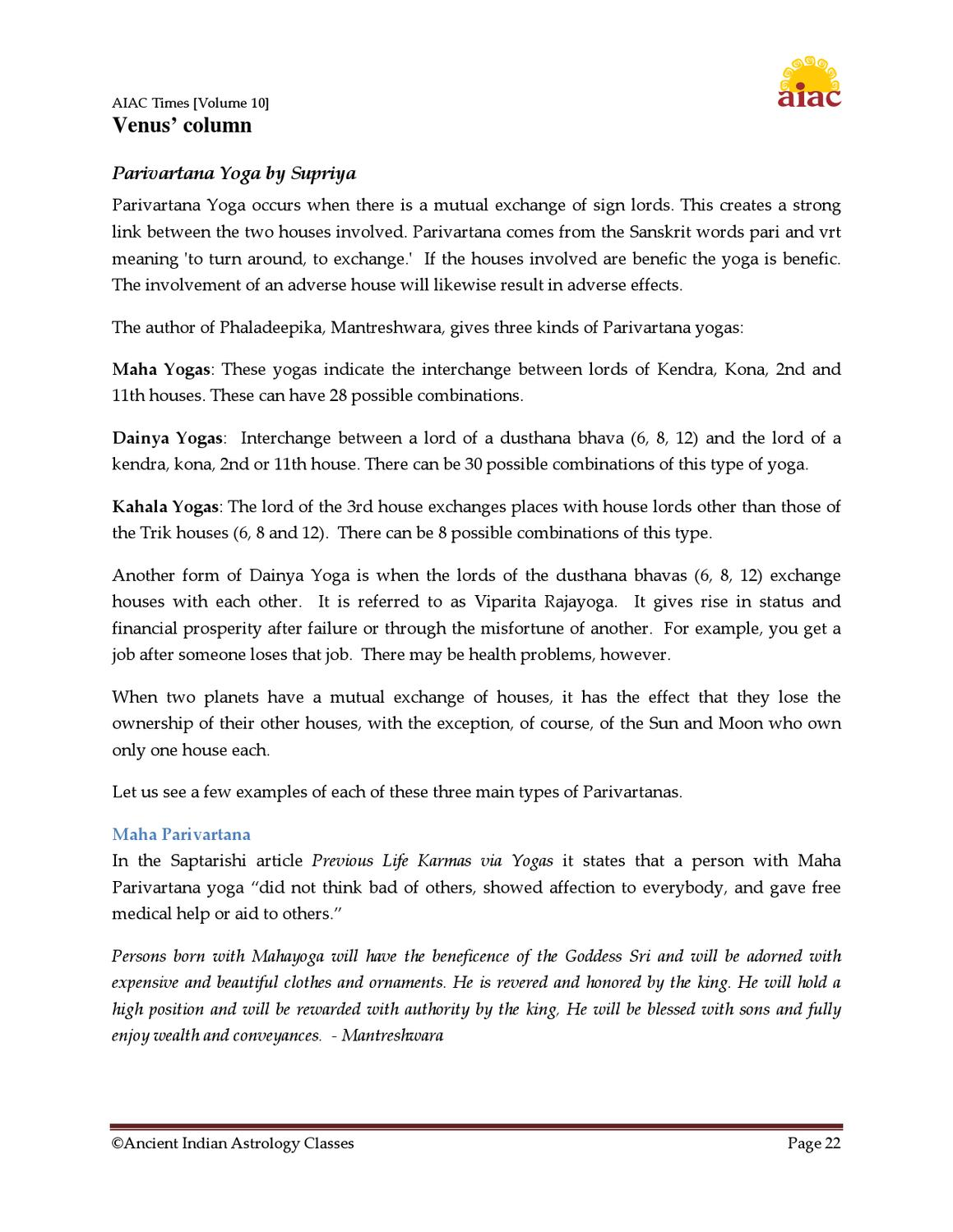 AIAC Times Vol 10 by Saptarishis Astrology - issuu