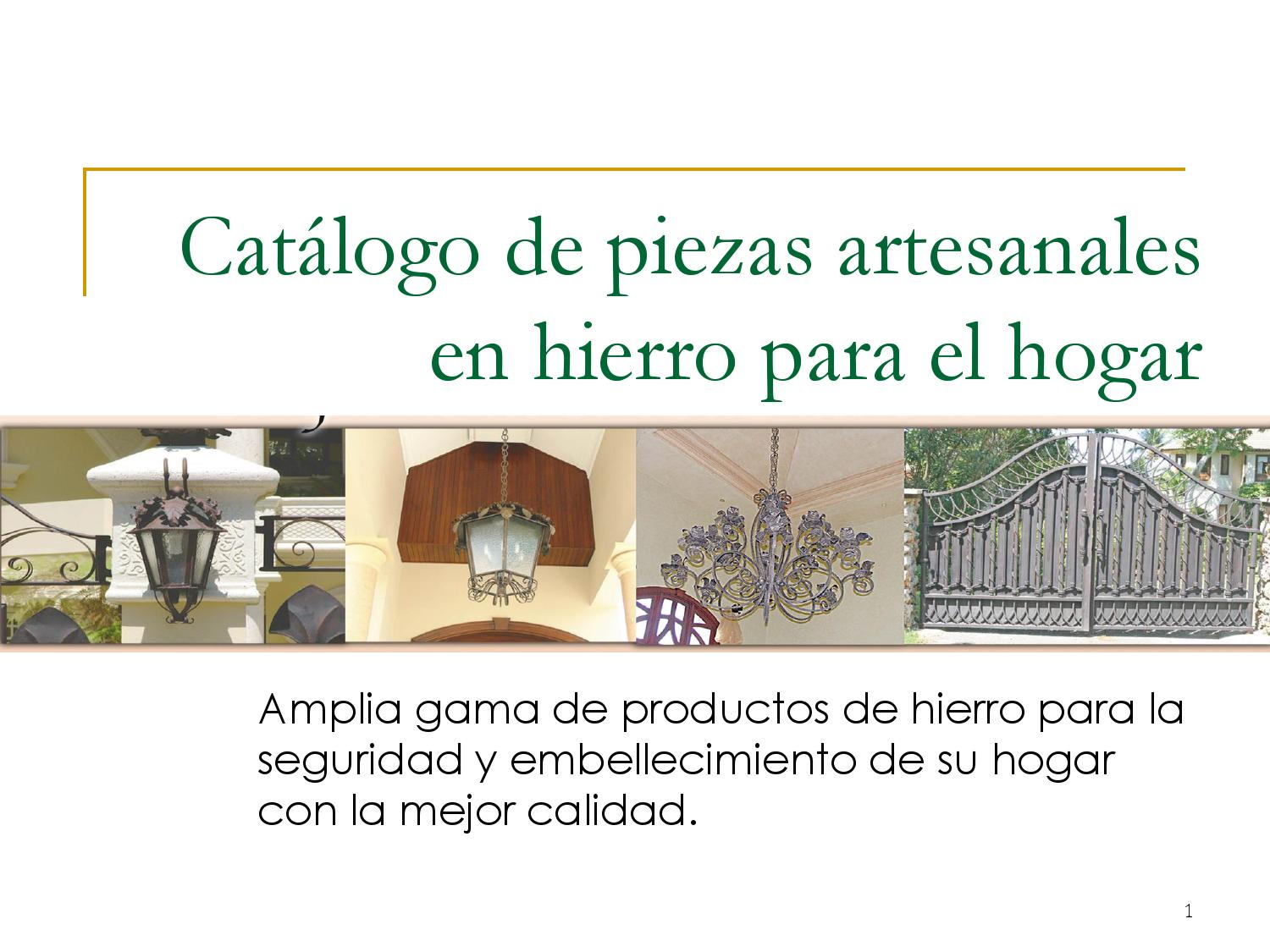 Catalogo productos en hierro by jose ignacio ure a reyes for Productos de hierro