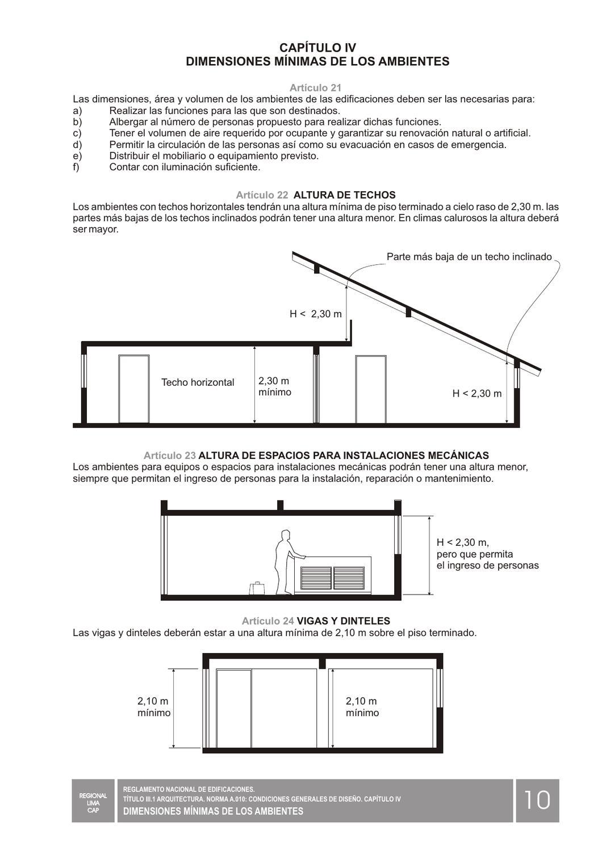 Rnc reglamento nacional de contruccion ilustrado peru - Altura de un piso ...