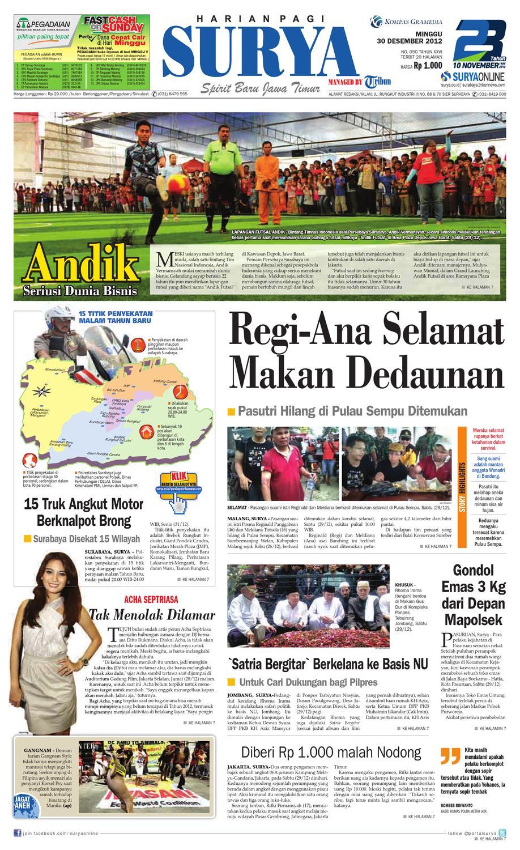 E Paper Surya Edisi 23 Desember 2012 By Harian Issuu Kebab Pisang Coklat Champlo Sf 30