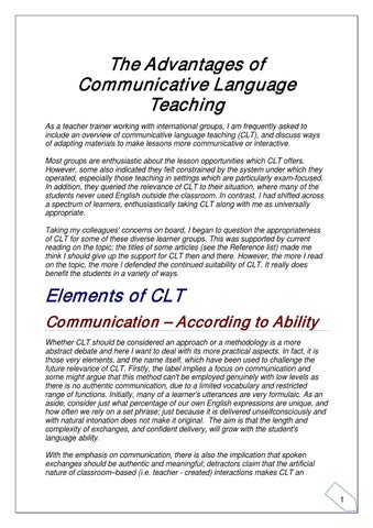 research papers communicative language teaching