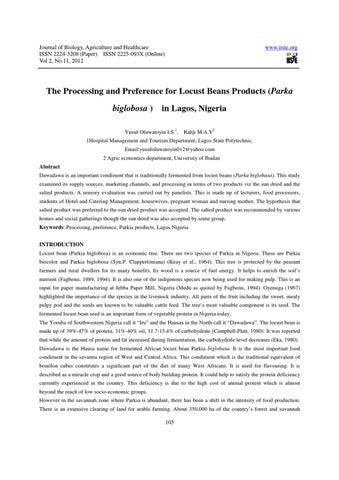 literature review parkia biglobosa