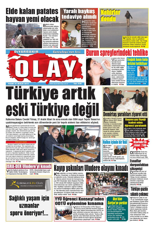 30 12 2012 Gazete Safyalari By Diyarbakir Olaygazetesi Issuu